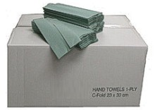 HAND TOWELS GREEN 1PLY 2880 BOX