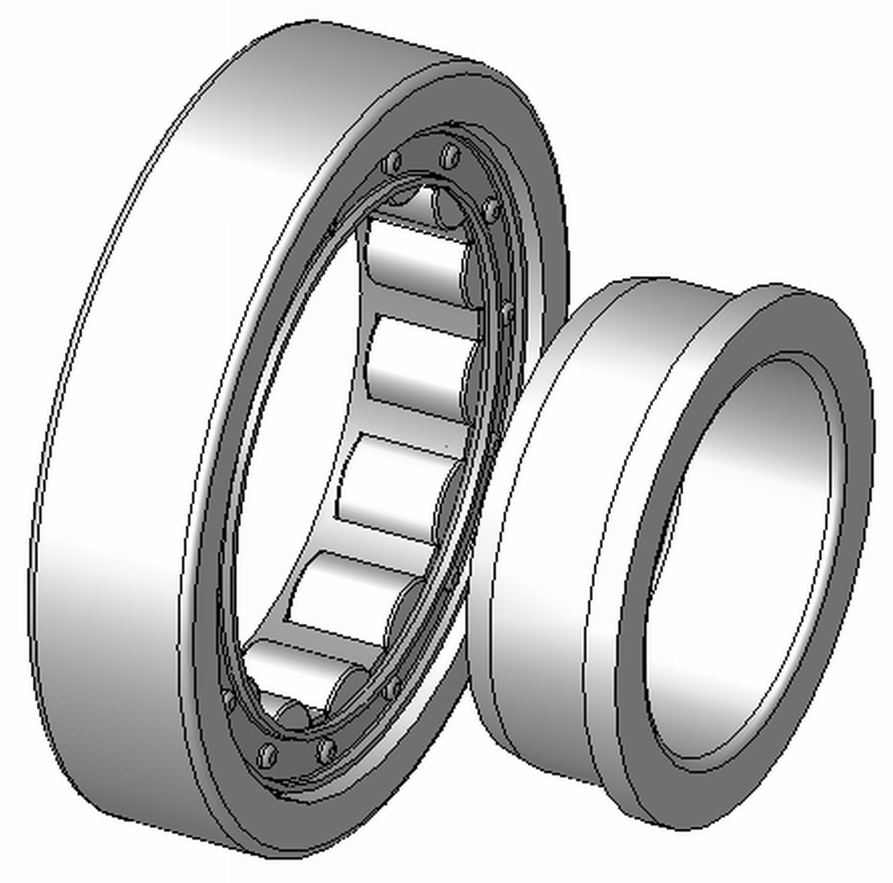 """NJ207ETNC3 - RHP NJ Type Cylindrical Roller Bearing - 35 x 72 x 17"""