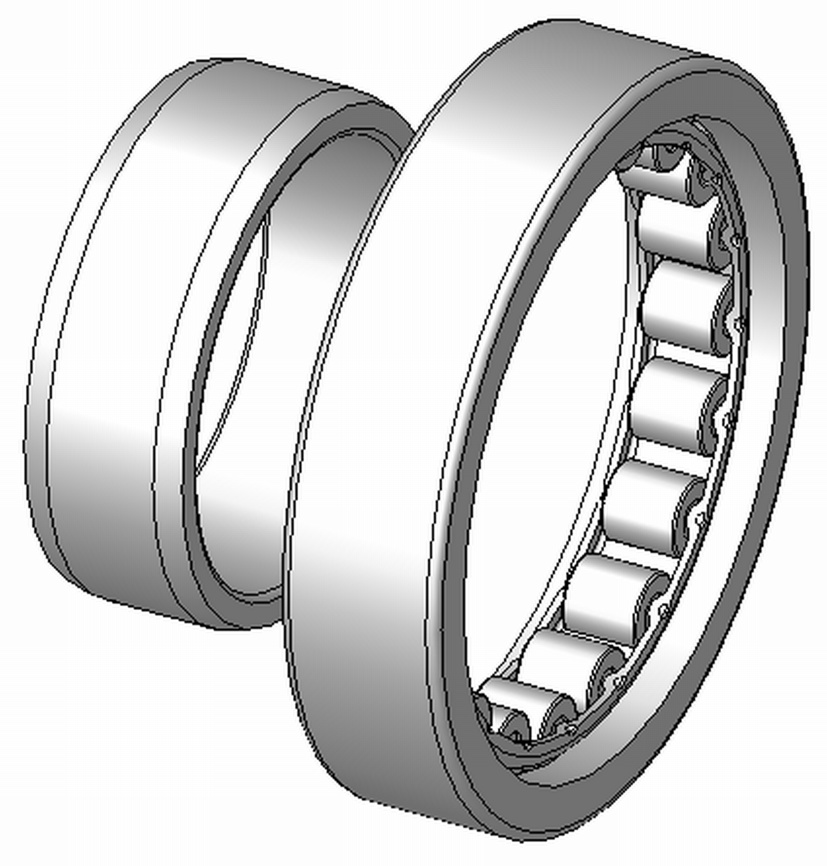 """NU204 - NU Type Cylindrical Roller Bearing - 20 x 42 x 14"""