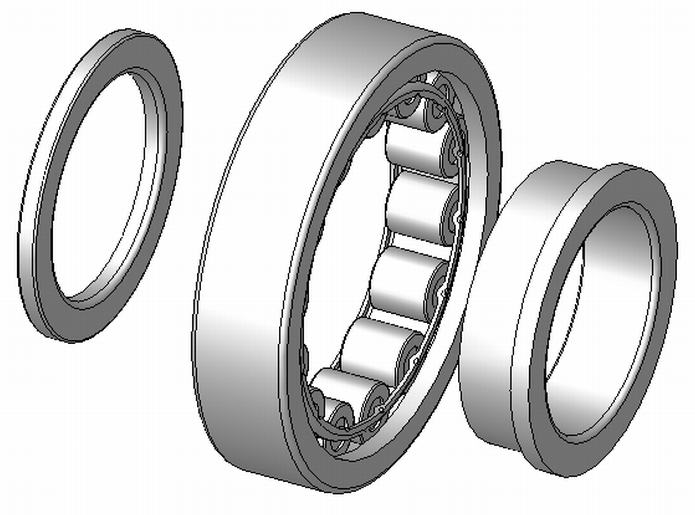 """NUP205ECP - NUP Type Cylindrical Roller Bearing - 25 x 52 x 15"""
