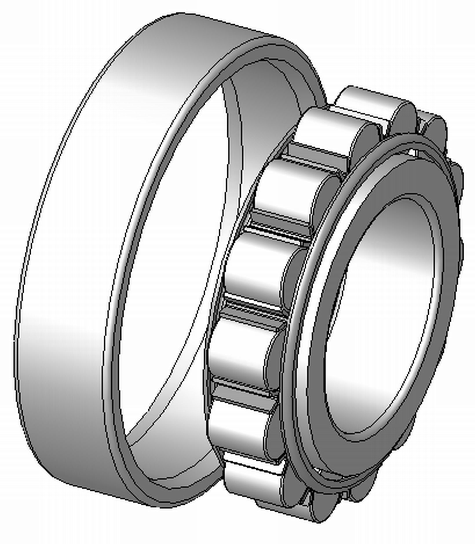 """LRJ2.3/4J - LRJ Type Cylindrical Roller Bearing - 2.3/4 x 5.1/4 x 15/16"""